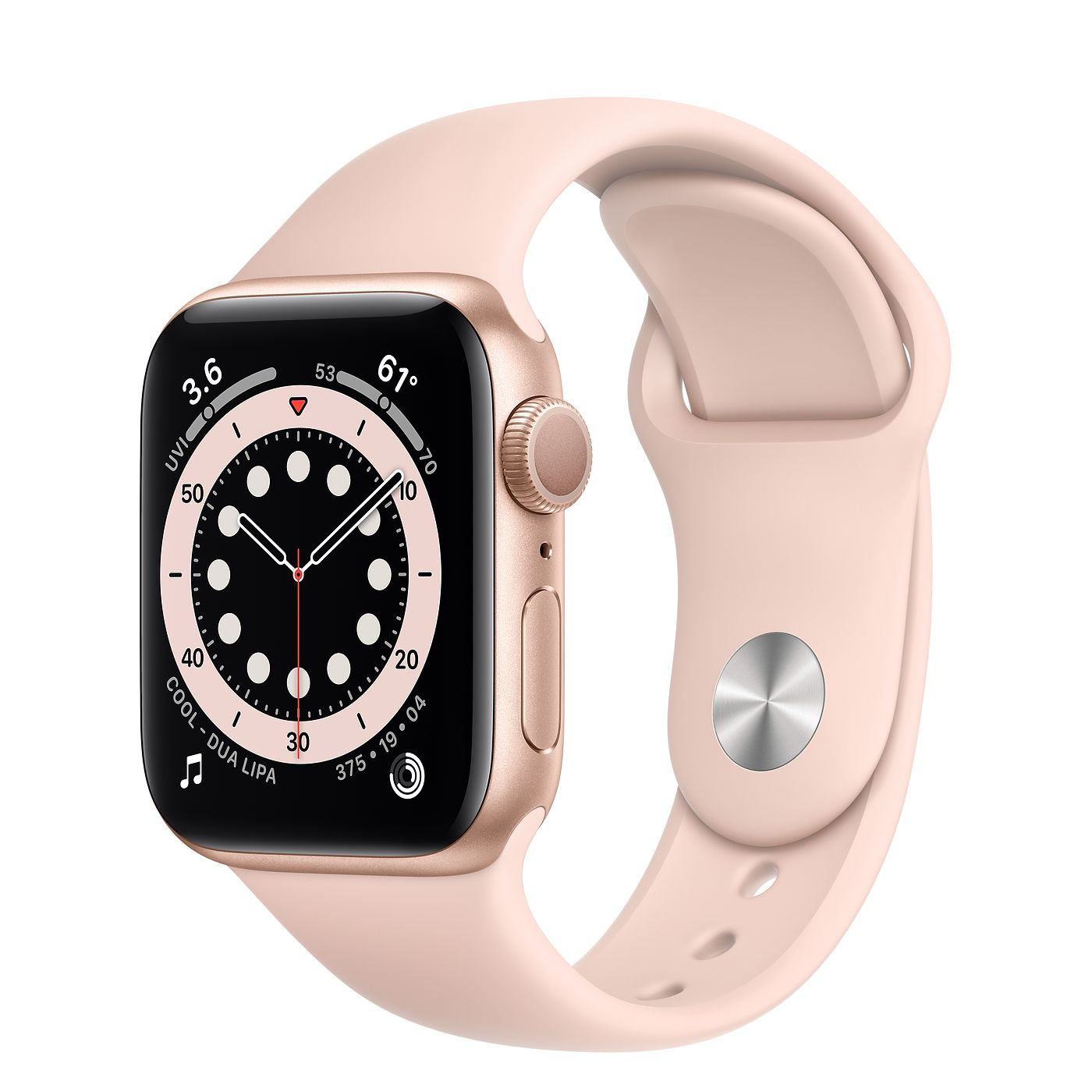 Apple Watch Series 6 GPS, 40mm Gold Aluminum Case with Pink Sand